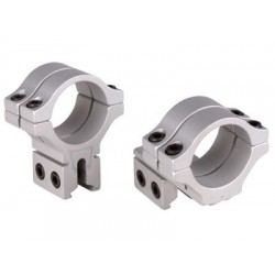 BKL Double Strap Offset 30mm Rings, Dovetail, Silver