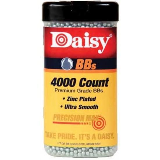 Daisy 4000 Ct Premium BB's - Zinc Coated