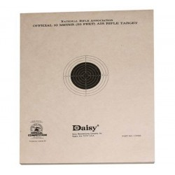 Daisy Official NRA 10-Meter Air Rifle Target, 50 ct