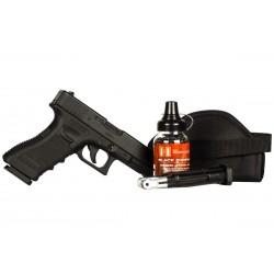 Glock 17 Gen. 3 BB Pistol, Black Ops Combo