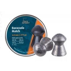 H&N Baracuda Match (4.52mm) .177 Cal, 10.65 gr - 400 ct