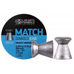 JSB Blue Match Heavy Weight .177 Cal, 8.26 gr - 500 ct