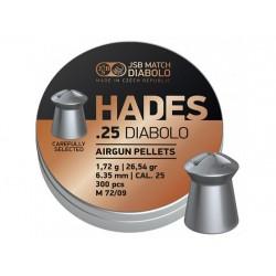 JSB Match Diabolo Hades .25 Cal, 26.54gr - 300 ct