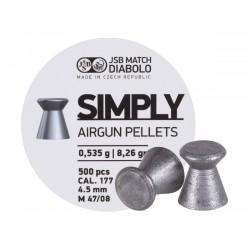 JSB Simply Pellets Wadcutter .177, 8.26gr - 500ct